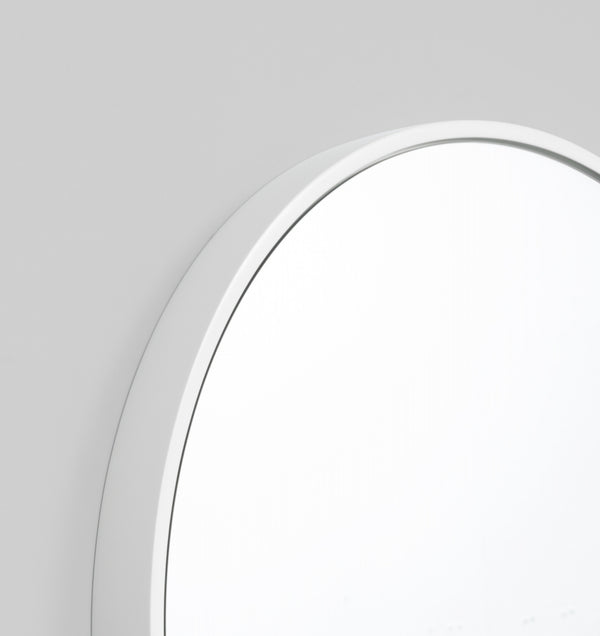 MIDDLE OF NOWHERE Bella Round Mirror - White