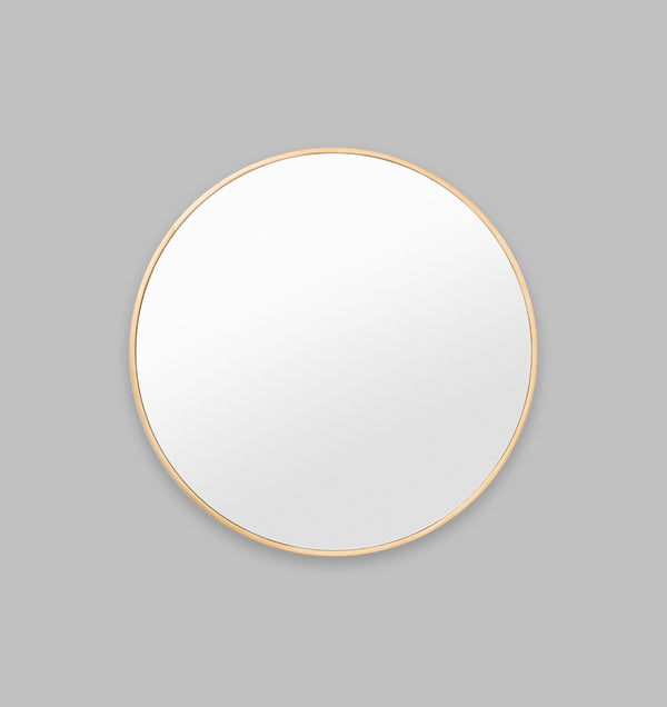 MIDDLE OF NOWHERE Bella Round Mirror - Brass