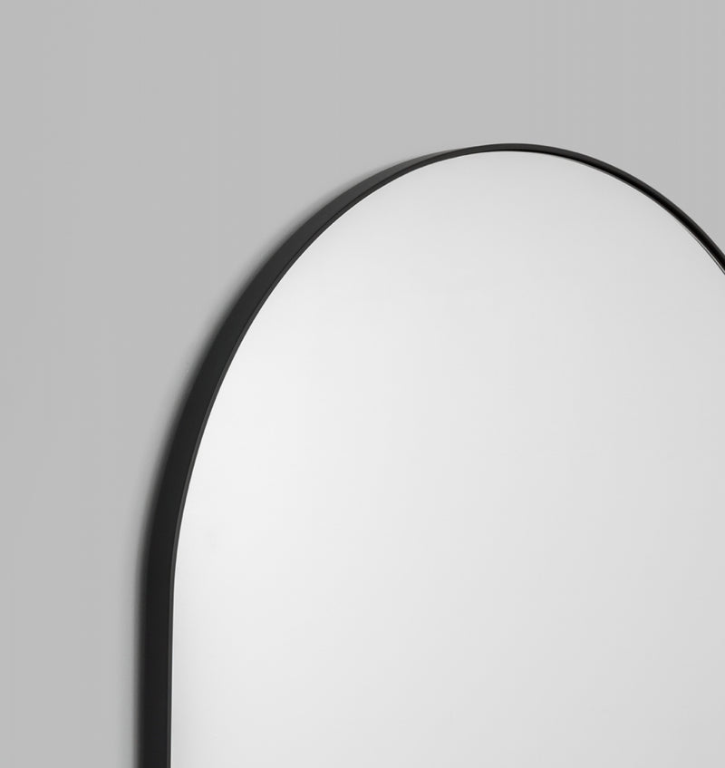 MIDDLE OF NOWHERE Bjorn Arch Floor Mirror Black