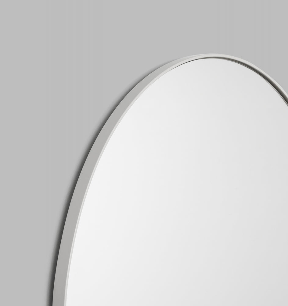 MIDDLE OF NOWHERE Bjorn Arch Floor Mirror Bright White