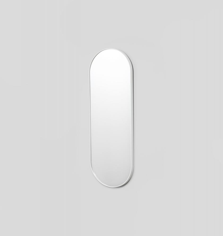 MIDDLE OF NOWHERE Bjorn Oval Large Mirror - Bright White
