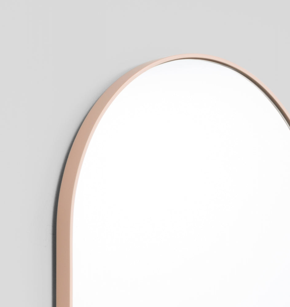 MIDDLE OF NOWHERE Bjorn Oval Large Mirror - Powder