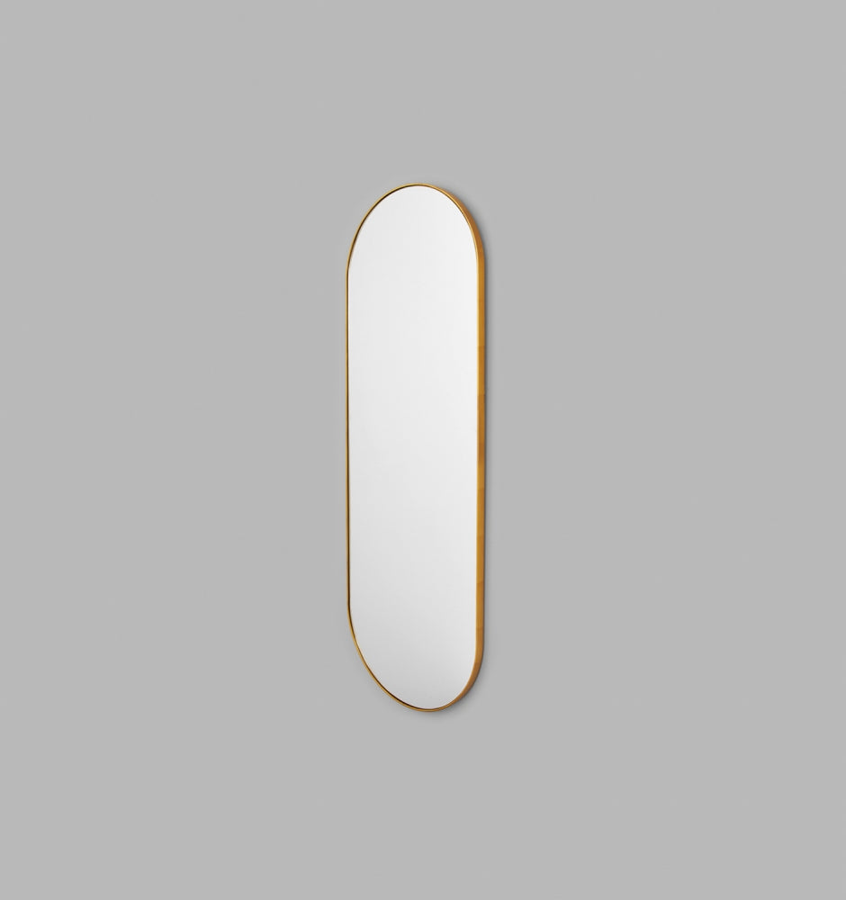 MIDDLE OF NOWHERE Bjorn Oval Large Mirror Brass