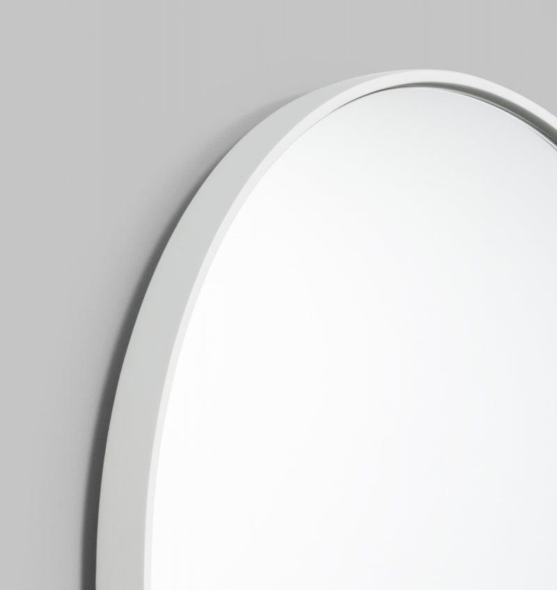 MIDDLE OF NOWHERE Bjorn Oval Mirror - Bright White - 3 Sizes Available