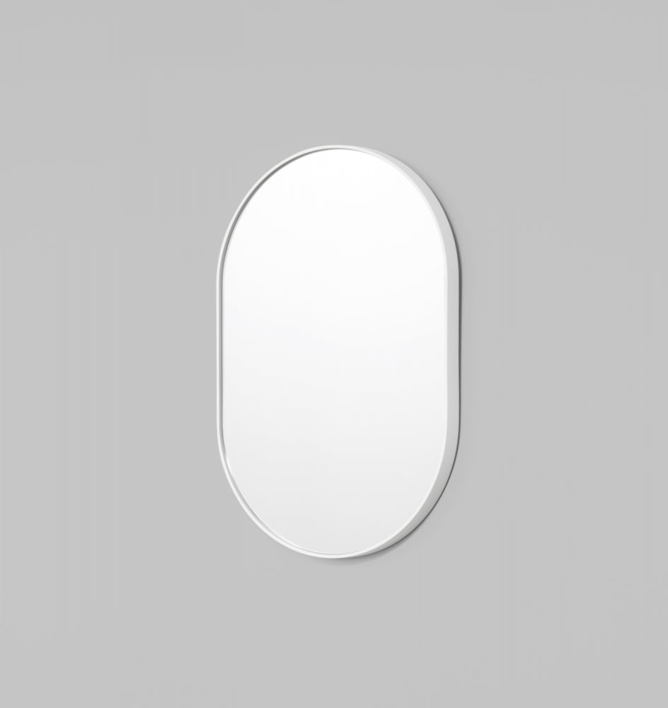 Bjorn Oval Mirror - Bright White - 3 Sizes Available