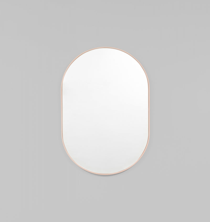 Bjorn Oval Mirror - Powder
