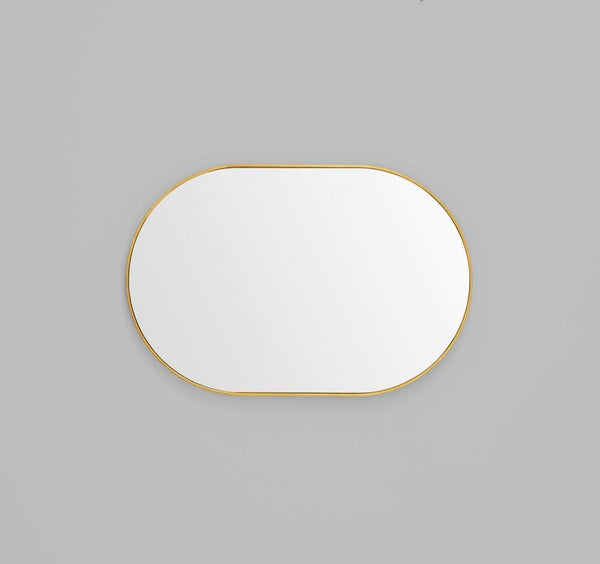 MIDDLE OF NOWHERE Bjorn Oval Mirror - Brass - 3 Sizes