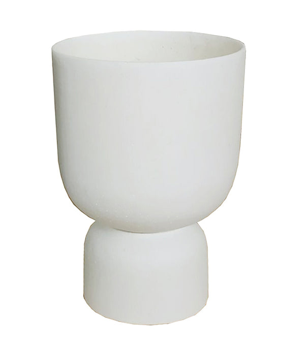 MRD HOME Blanche Planter - Large - Chalk