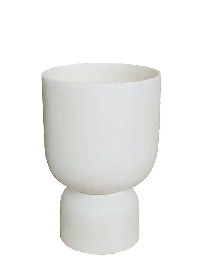 MRD HOME Blanche Planter - Small- Chalk