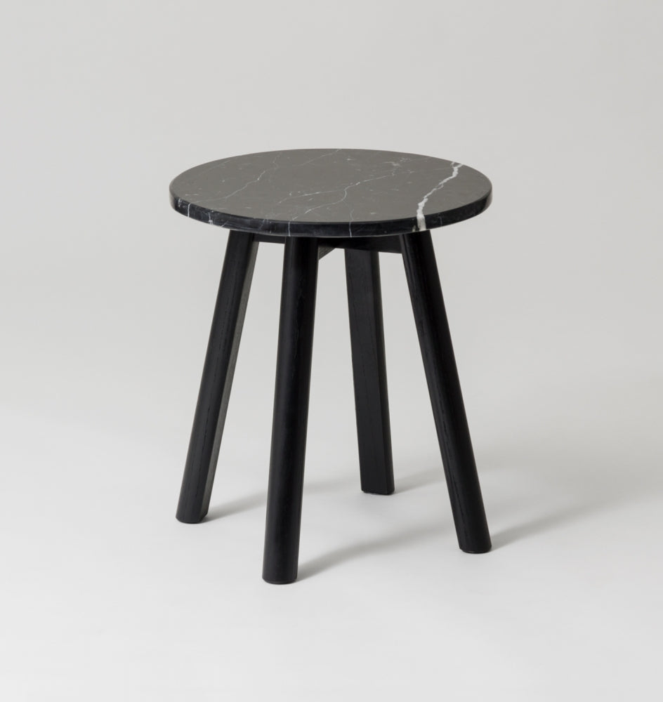 Enkel Marble Side Table - Black