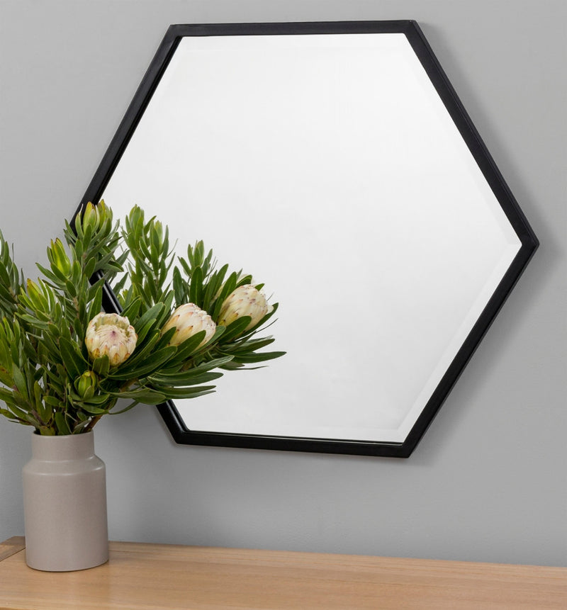 MIDDLE OF NOWHERE Polygon Mirror - Black