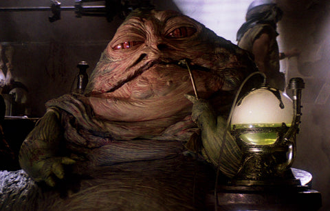 Jabba the Hutt enjoying Hookah