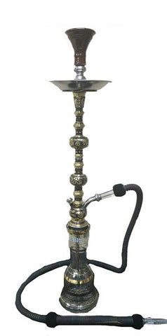 Khalil Mamoon Kuwait Tower Oxidized Double Hookah Wholesale