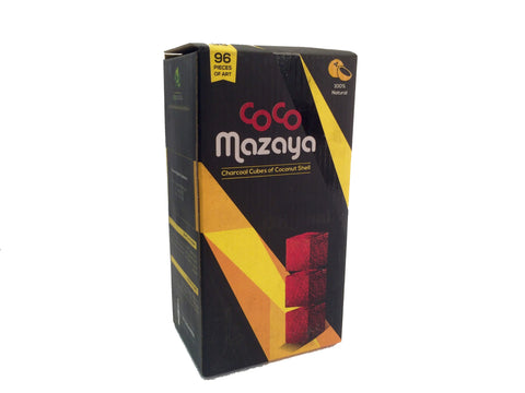 Coco Mazaya Hookah Charcoal 96 Piece Wholesale