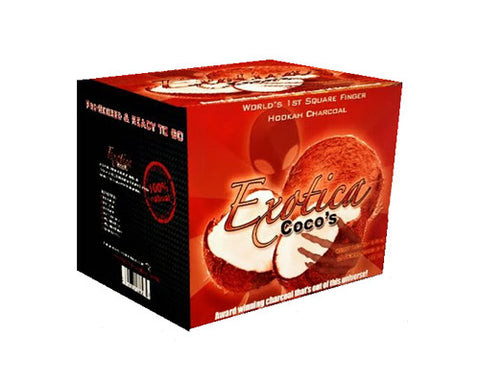 Exotica Coco Hookah Charcoal 100 Piece