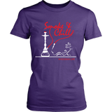 Smoke and Chill Women's Hookah Shirt (White Logo)