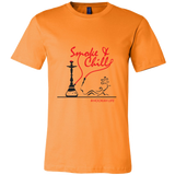 Smoke and Chill Men's Hookah T Shirt (Black Logo)