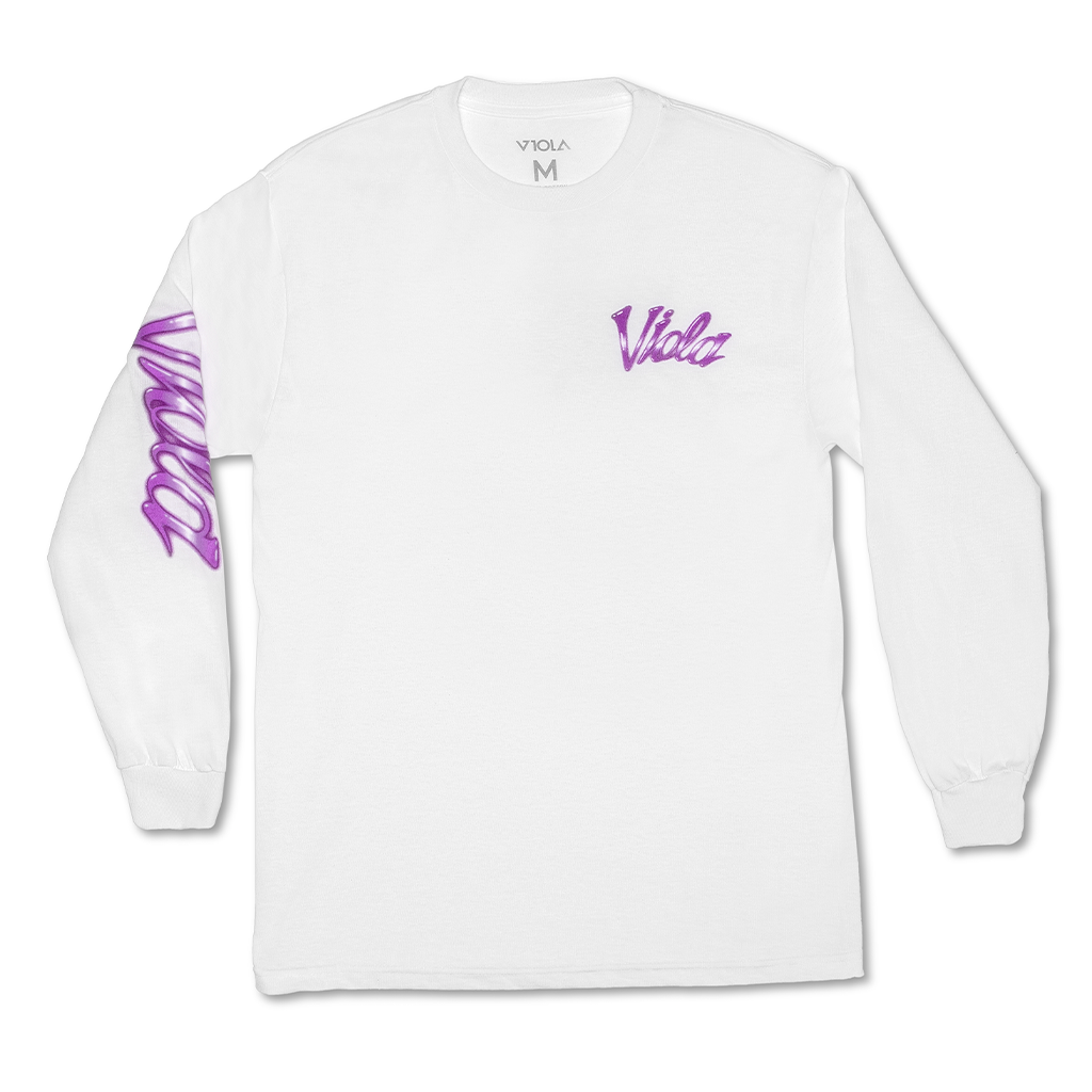 Airbrush Long Sleeve - White