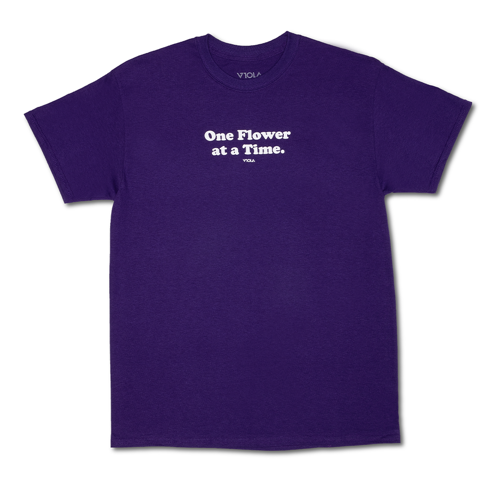 One Flower Tee - Purple
