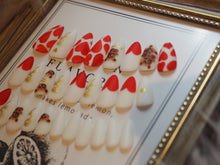 Load image into Gallery viewer, ALMOND Valentine Love Teddy Nail Art Full Set 28 pcs