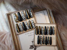 Load image into Gallery viewer, LONG COFFIN Rock Leopard Nail Art Full Set 24 pcs