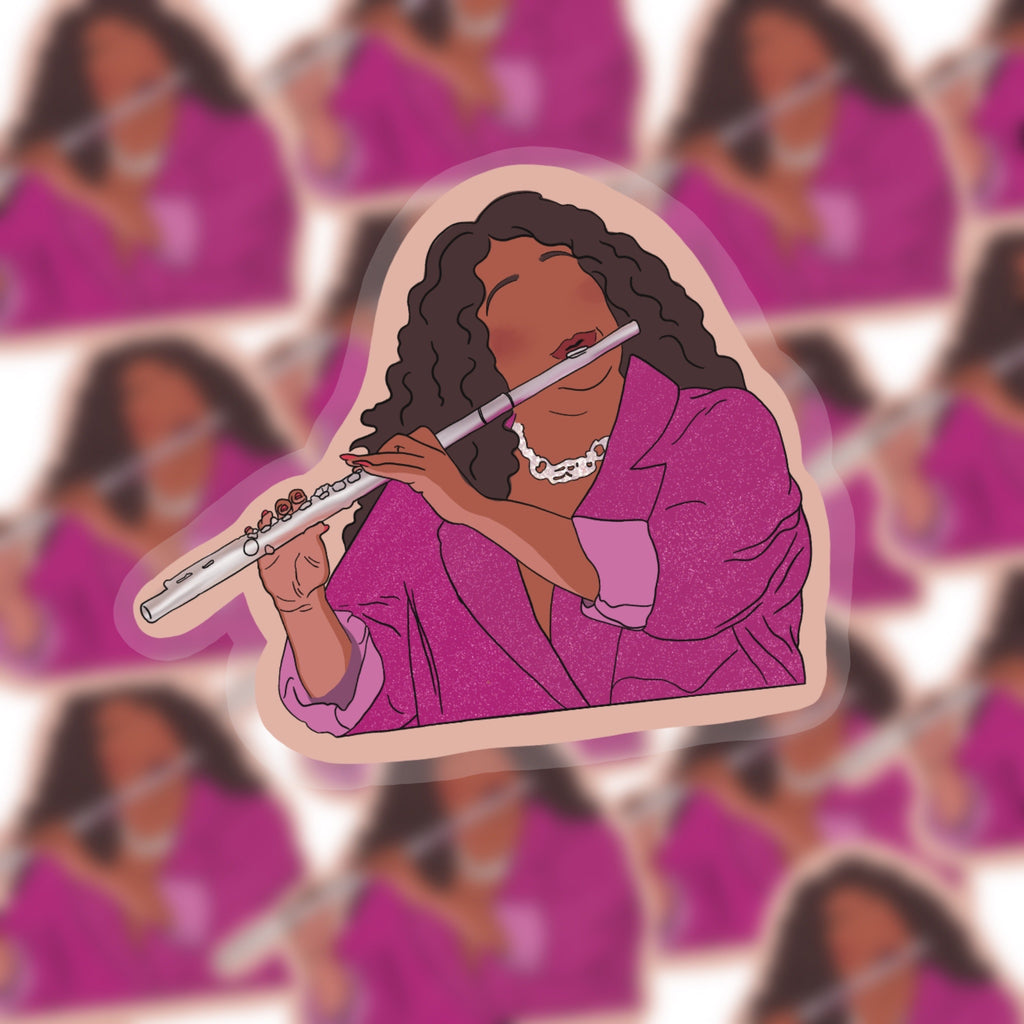 Flutist Sticker