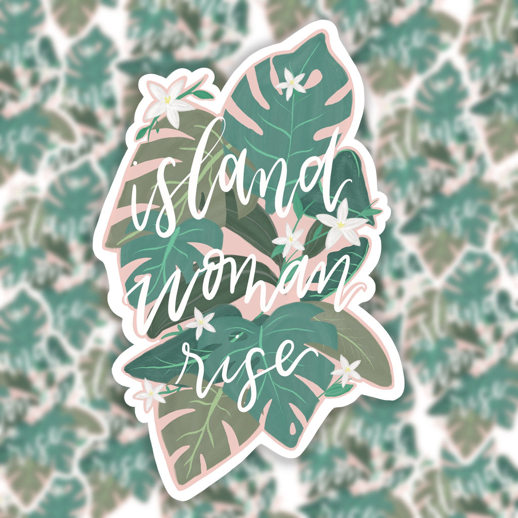 Island Woman Rise Sticker
