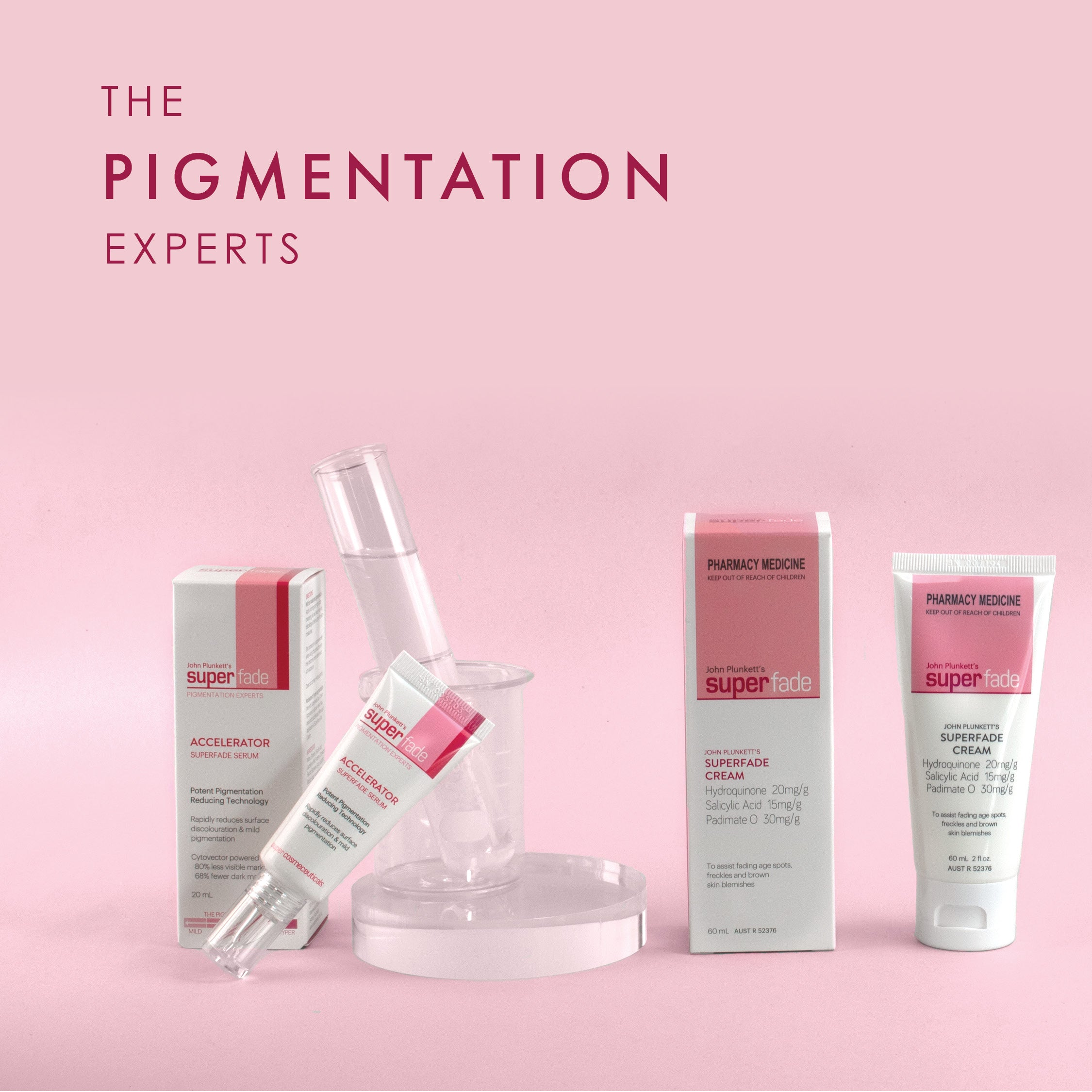 Image of Plunkett's pigmentation creams and serums