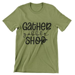 Gather, Gobble, Shop
