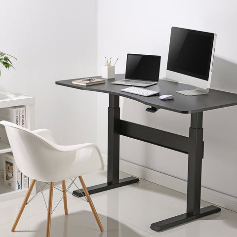 Desky air lift sit and stand desk