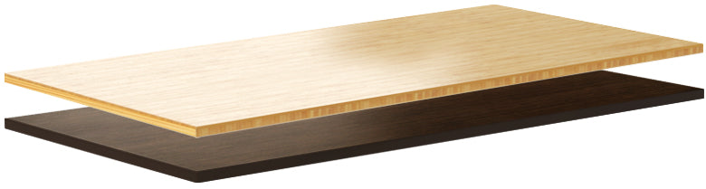 bamboo sit stand desk top