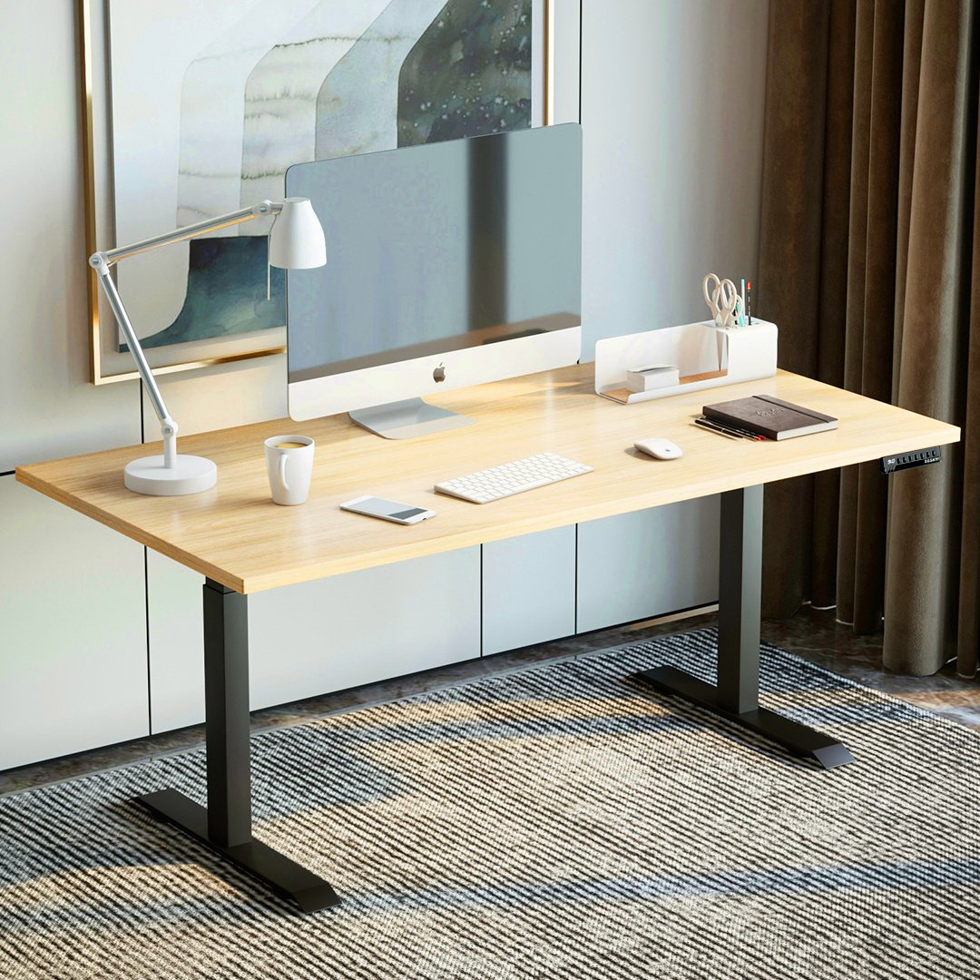 desky stand up desk curly birch top
