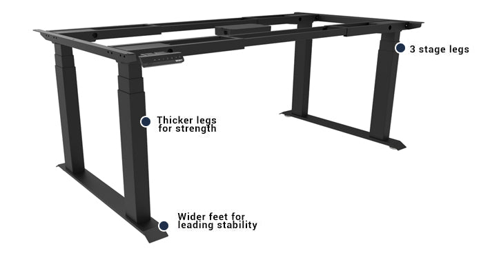 extra strong stand up desk frame