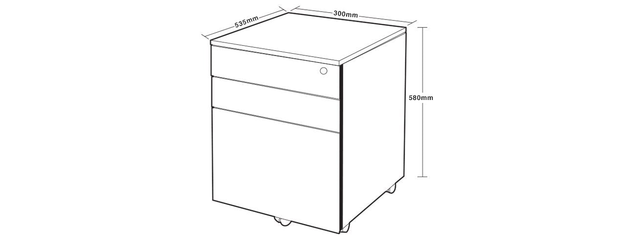 office drawers diagram