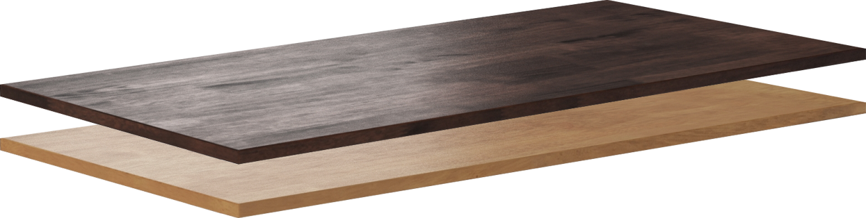 rubberwood stand up desk tops