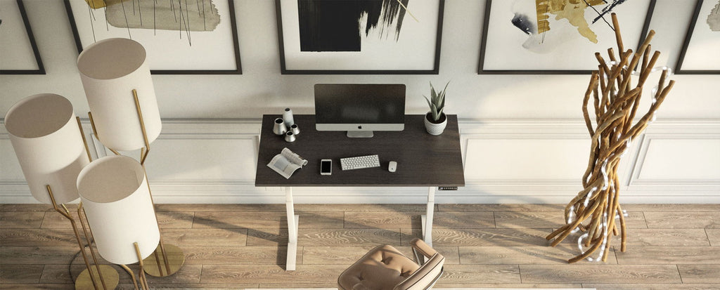 modern home office spoace with desk