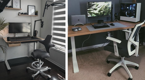 computer chair height