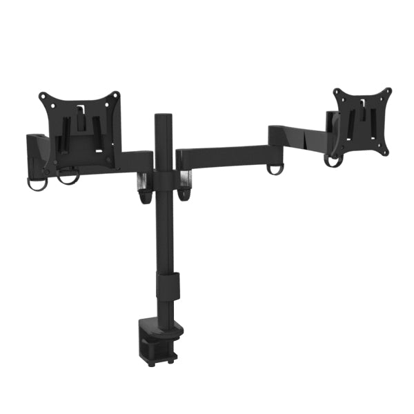 dual monitor mount black