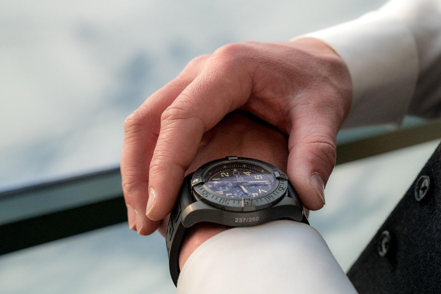 mans wrist with watch