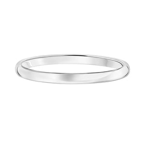 14k Plain Gold Wedding Band 2mm