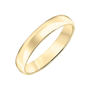 14k Plain Gold Wedding Band 4mm
