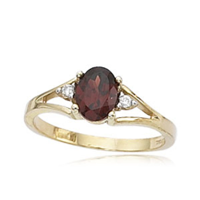 Semi-Precious Gemstone, Diamond, & 14K Gold Ring