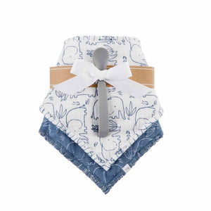 Mud Pie Blue Elephant Bibs and Spoon