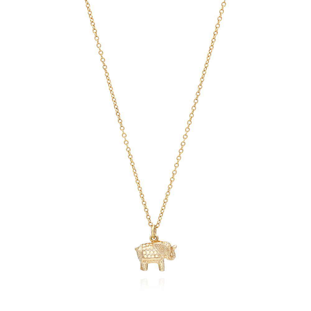 Anna Beck Small Elephant Charm Necklace
