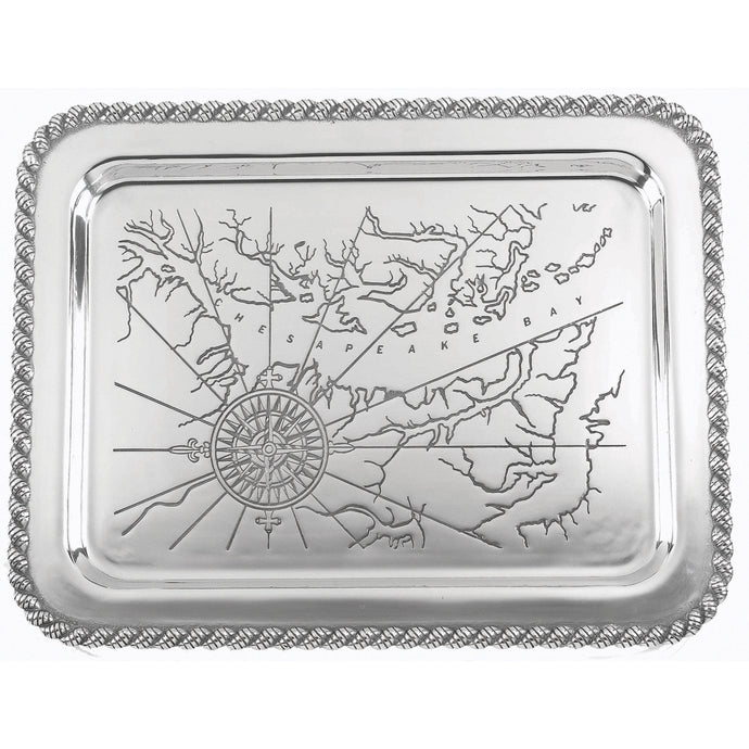 Salisbury Pewter Latitudes Large Chesapeake Tray