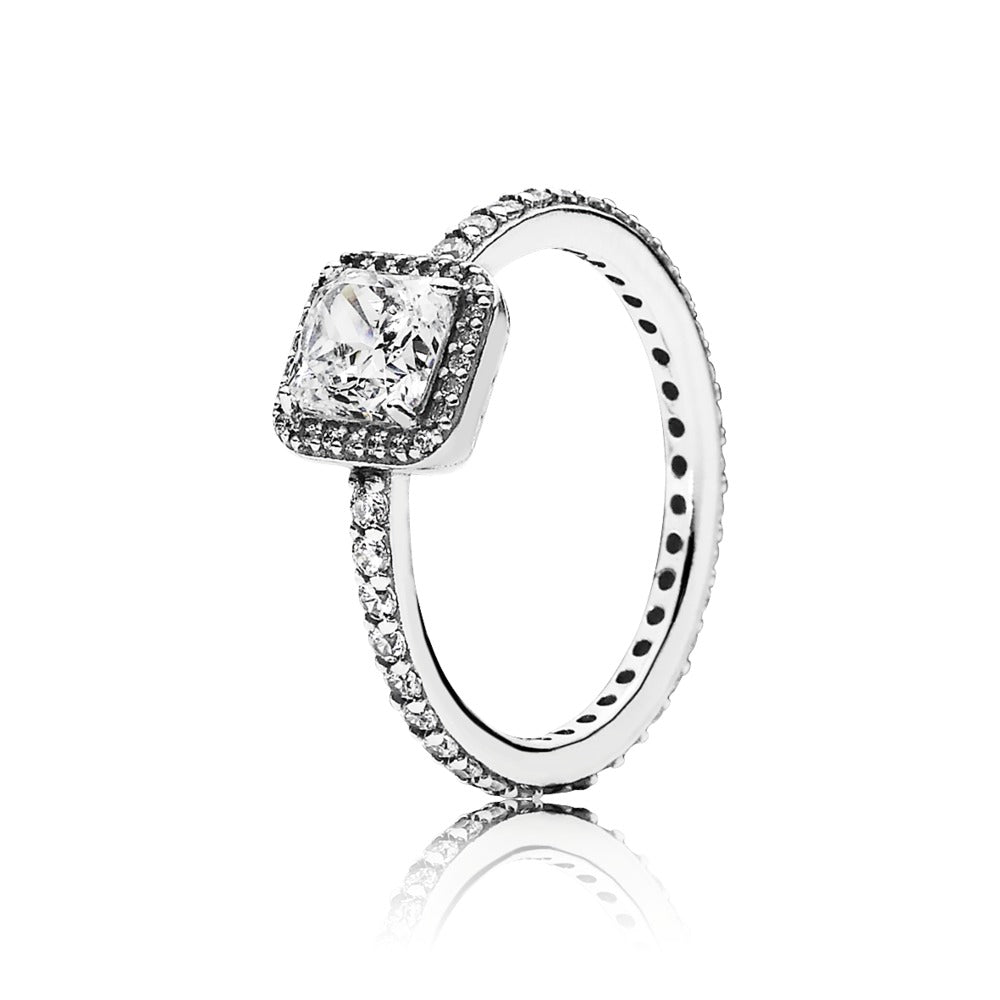 Pandora Timeless Elegance Square Sparkle Halo Ring