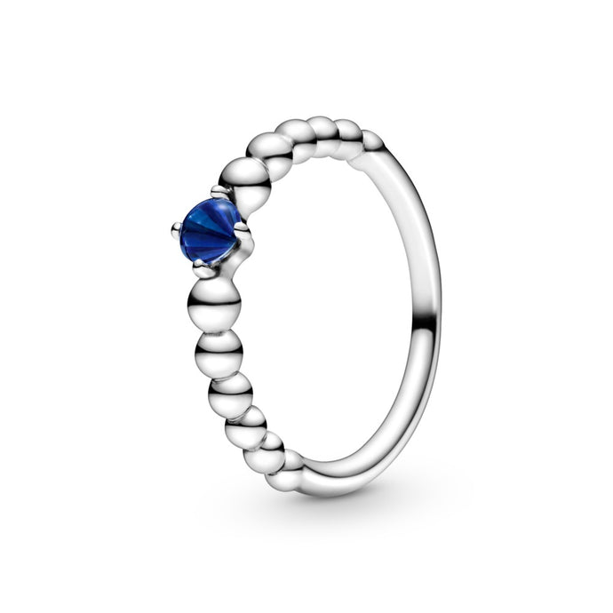 Pandora September Sea Blue Beaded Ring
