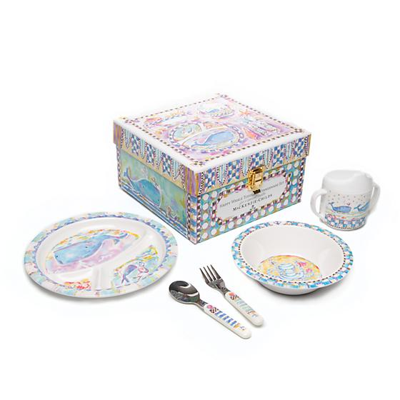 MacKenzie-Childs Toddler's Dinnerware Set - Whale