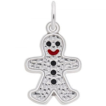 Load image into Gallery viewer, Sterling Silver Gingerbread Charm