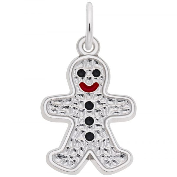 Sterling Silver Gingerbread Charm